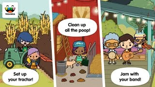 Toca Life: Farm Part 2 - iPad app demo for kids - Ellie