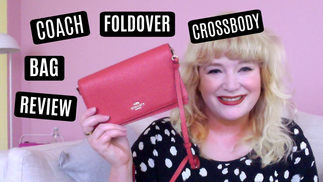 98cb015953f5 Coach Foldover Crossover Bag Review + What s In My Handbag!!! - YouTube