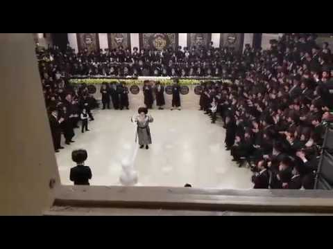 Spinka Rebbe Dancing Mitzvah Tantz At The Wedding Of His Youngest Daughter