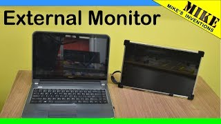 Making an External Monitor from a Laptop Screen - Mikes Inventions