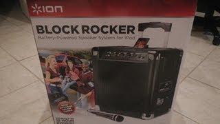 ION BLOCK ROCKER BATTERY POWERED SPEAKER IPOD IPHONE -- UNBOXED