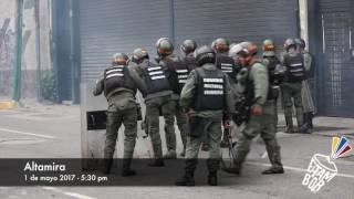 #VideoRetumbe Represión: En El Paraíso, Autop. Francisco Fajardo, La Castellana y Altamira 1/05/2017