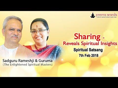 Sharing - Reveals Spiritual Insights - Thursday Spiritual Satsang - 7th Feb 2018