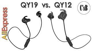 Сравнение QCY QY19 и QY12 Bluetooth наушников с AliExpress