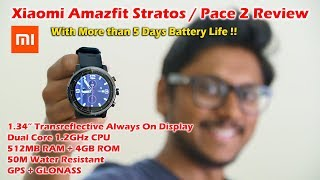 Xiaomi Amazfit Stratos Review | Best Smartwatch with Great Battery Life!