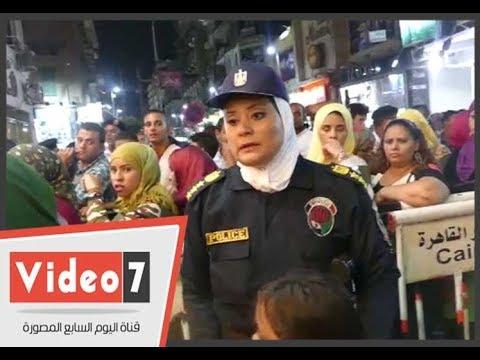 الشرطة النسائية تستكمل حملاتها أمام السينمات