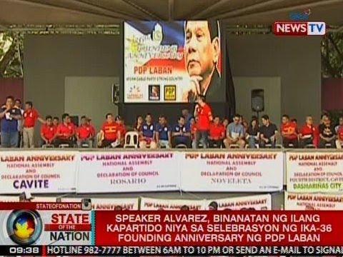 SONA: Speaker Alvarez, binanatan sa selebrasyon ng founding anniversary ng PDP Laban