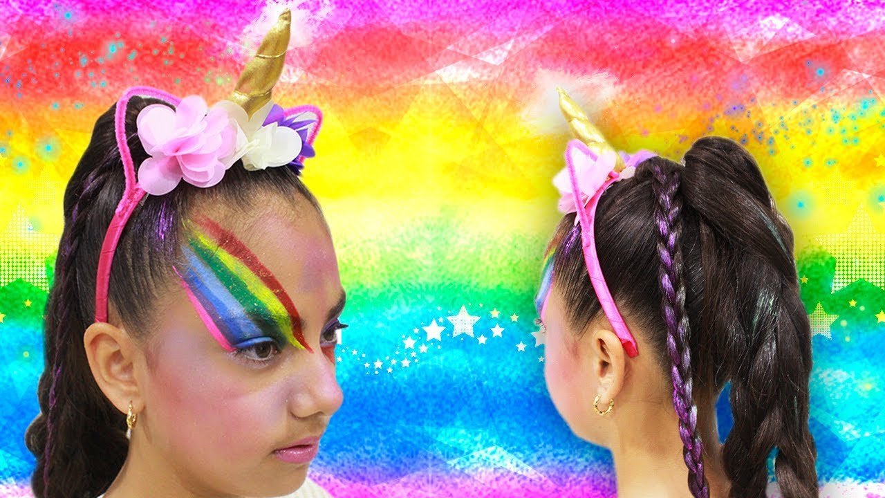 Peinado Y Maquillaje Unicornio Halloween Youtube