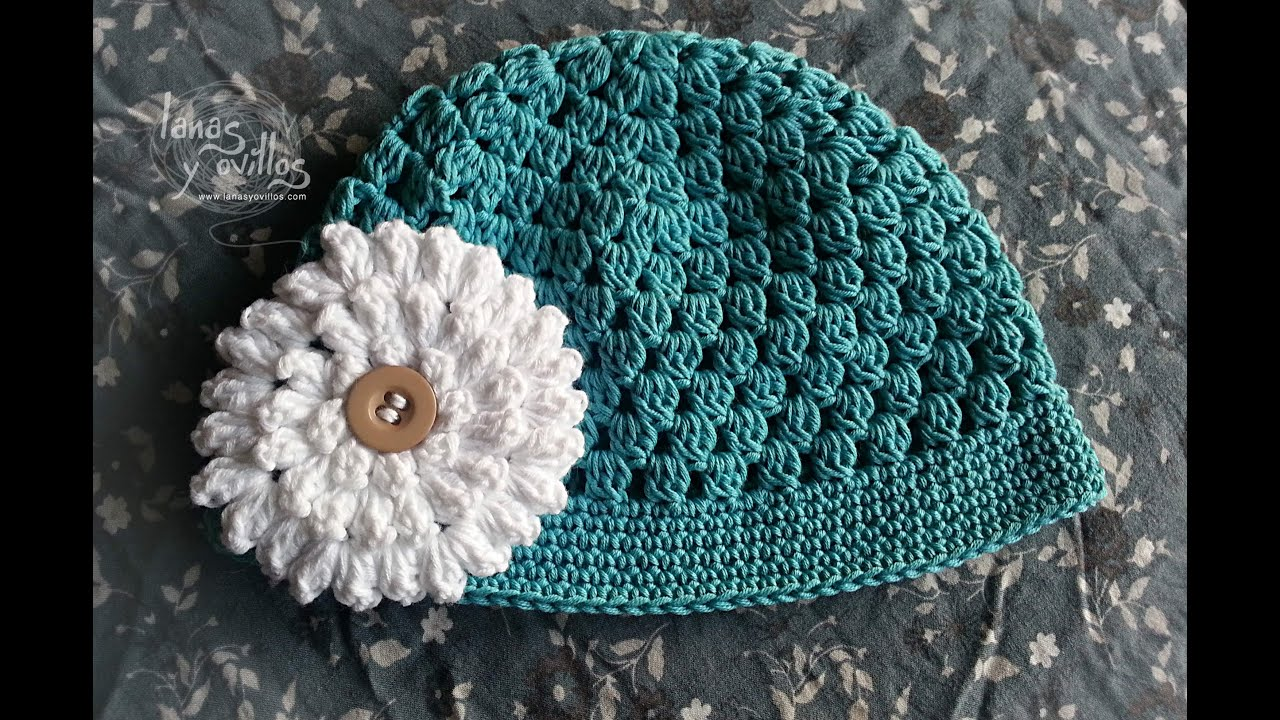 Ganchillo : Tutorial Gorro BebE F?cil Crochet o Ganchillo - YouTube
