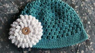 Repeat youtube video Tutorial Gorro Bebé Fácil Crochet o Ganchillo