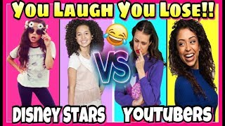 Try Not To Laugh Challenge 2017 Disney Stars VS Youtubers Musical.ly Battle