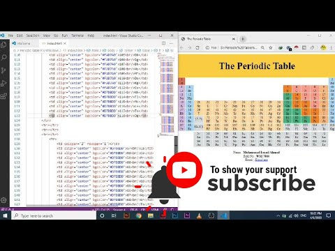 Draw A Periodic Table By Just Using HTML No CSS Is Used | VS Code | Complete Video