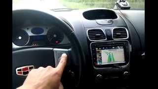 Переключение радиостанций при включенной навигации на штатной магнитоле Geely Emgrand
