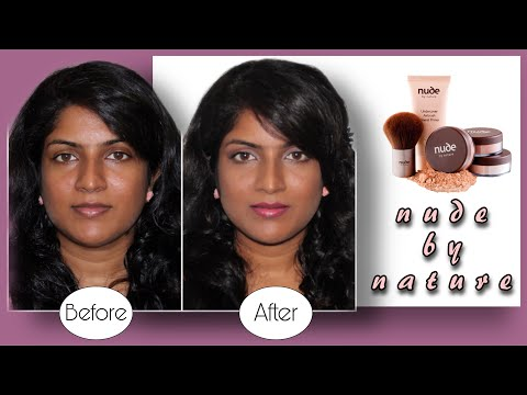 Simple Everyday Makeup Look using Nude by Nature Mineral Kit for Indian / Sri Lankan / Tan Skin Tone