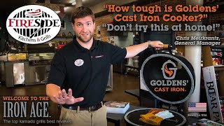 Top Kamado Grill - FireSide Outdoor Kitchens Reviews - Goldens Cast Iron