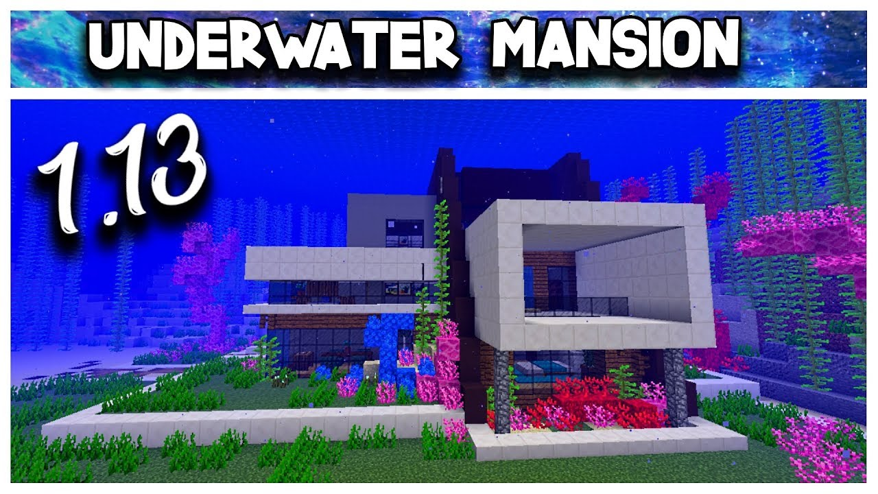 How To Make An Underwater House In Minecraft 1 13 World Download