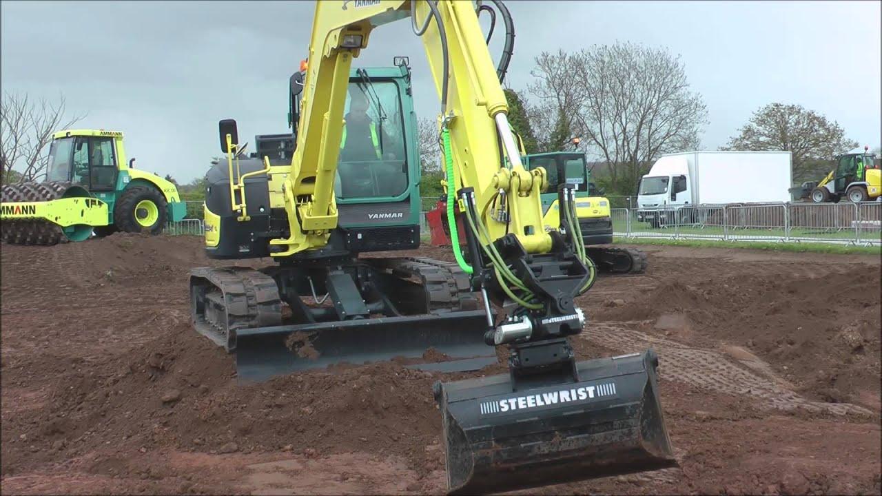 Yanmar excavator working with special attachment @ Plantworx