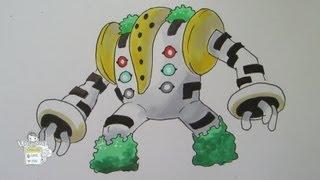 How to draw Pokemon: No. 486 Regigigas