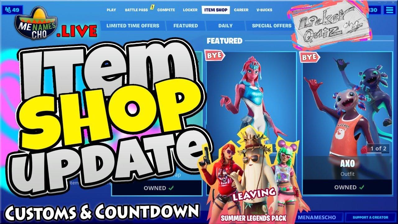 💥FORTNITE ITEM SHOP UPDATE 🔵 Countdown ⚡ LIVE - 11th August 2020 (Fortnite Battle Royale)
