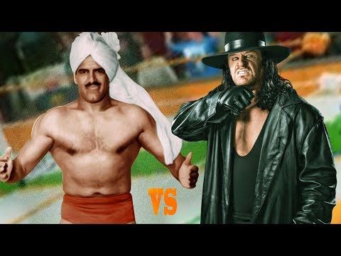 WWE DARA SINGH VS THE UNDERTAKER HELL IN A CELL