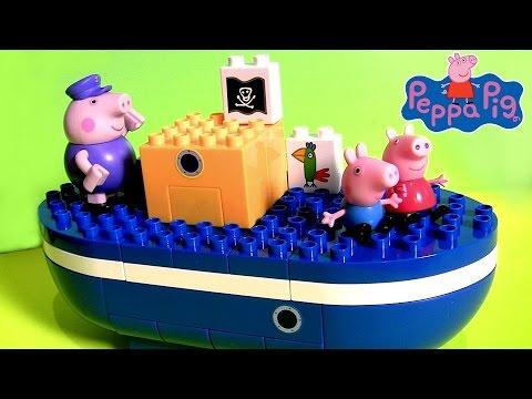Lego O Barco do Vovô Pig Brinquedo de Blocos de Construir Peppa Pig   Barco del Abuelo Cerdito