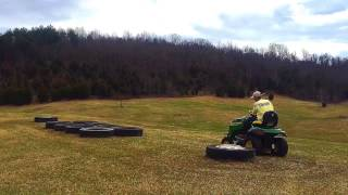 Bump track testing the new John Deere S240 Sportster