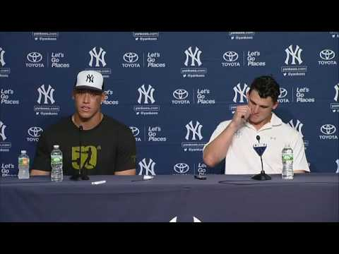 Aaron Judge and Tyler Austin press conference after their MLB debut