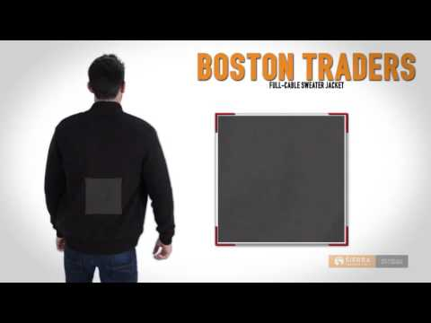 Boston Traders Full-Cable Sweater Jacket - Sherpa Lined (For Men)