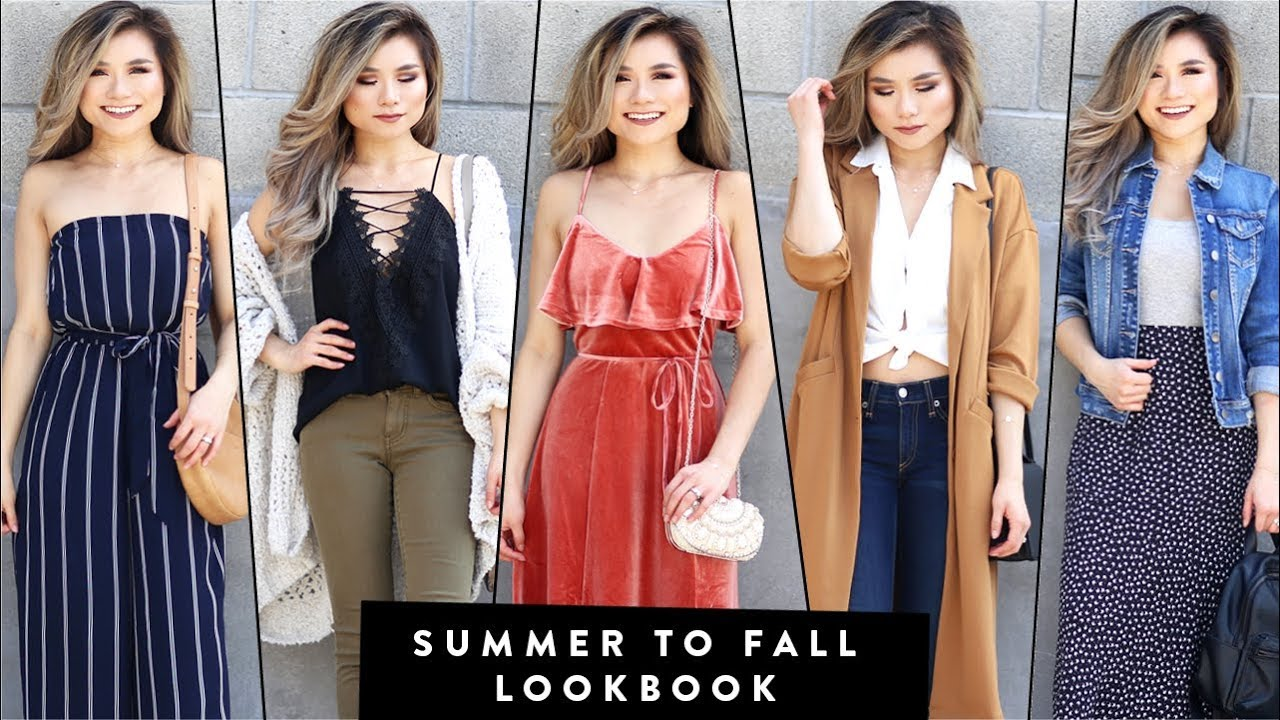 SUMMER to FALL Fashion Lookbook 2017   Summer to Fall Transition Outfits   Miss Louie 5