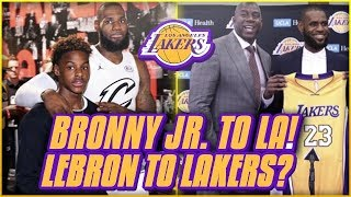 BREAKING NEWS: LEBRON TO THE LAKERS CONFIRMED? | BRONNY TO ATTEND HIGH SCHOOL IN LA!