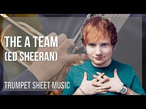 EASY Trumpet Sheet Music: How to play The A Team  Ed Sheeran