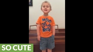 Toddler enthusiastically sings 'Les Miserables' epilogue
