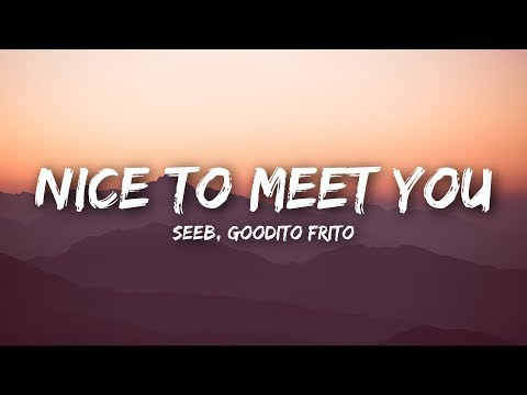 Seeb - Nice To Meet You (Lyrics / Lyrics Video) ft. Goodito Frito