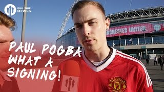 Paul Pogba: What A Signing!   Manchester United 2-1 Leicester City   FANCAM