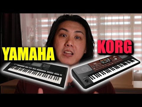 Comparison Yamaha PSR-S775 vs Korg-PA700 - Super Articulation vs DNC