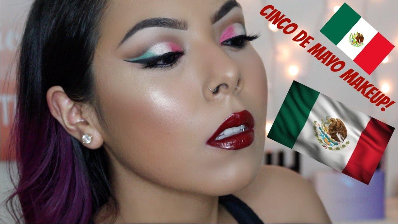 CINCO DE MAYO INSPIRED CUT CREASE MAKEUP TUTORIAL! - YouTube