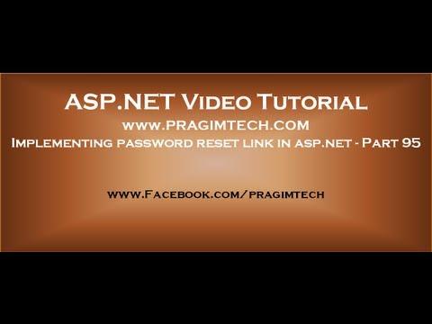 Implementing password reset link in asp.net   Part 95