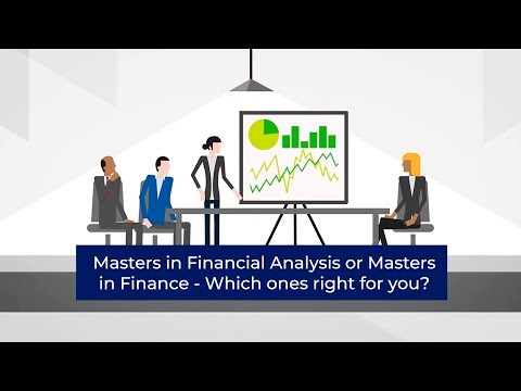 Masters in Financial Analysis or Masters in Finance - Which