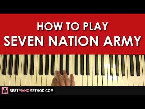 HOW TO PLAY  The White Stripes  Seven Nation Army Piano Tutorial Lesson