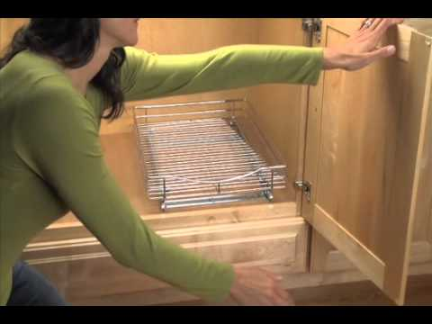 How To Install Roll Out Cabinet Drawers | Solutions.com   YouTube