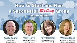 How To Start And Run a Successful MeetUp!!