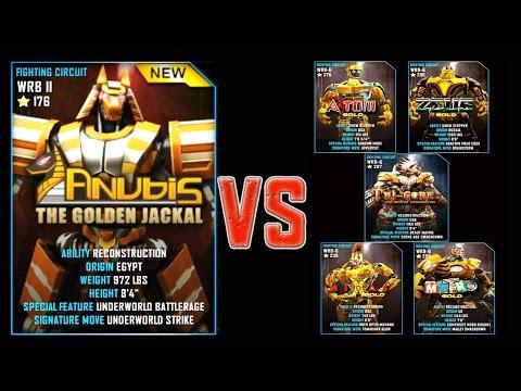 Real Steel WRB FINAL ANUBIS VS GOLD ROBOTS Series of fights NEW ROBOT (Живая Сталь)