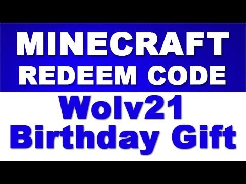 minecraft gift codes giveaway minecraft redeem code giveaway wolv21 birthday gift to 6081