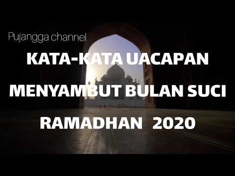 Kata Ucapan Menyambut Bulan Suci Ramadhan 2020 Youtube