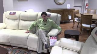 Clearwater furniture Southern Motion reclining leather, adjustable power headrest