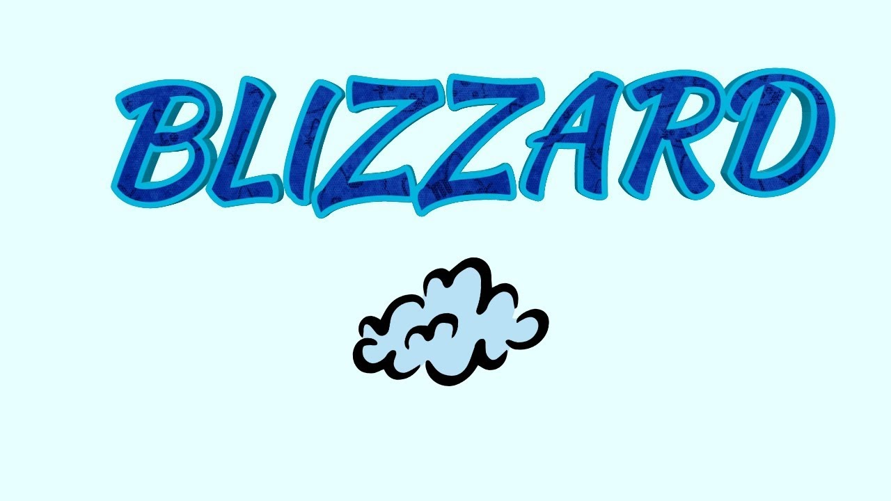Blizzard Pronunciation And Meaning In English Hindi Youtube