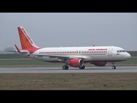 New A320 for AIR INDIA: 1st Testflight at Airbus Plant Hamburg, VT-EXA landing at XFW