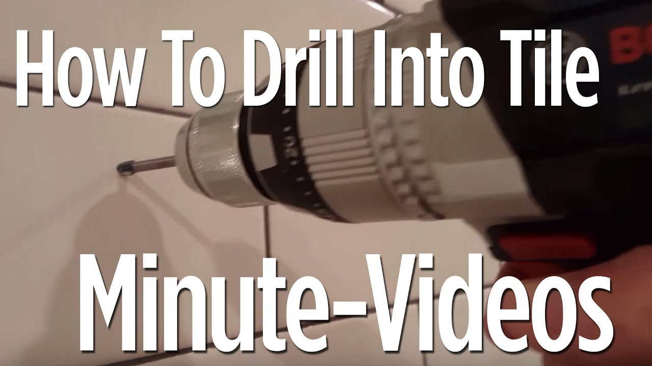 How To Drill Into Tile in 1 Minute (Anyone can do it) - YouTube