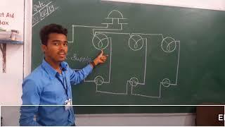 आफिस,हॉस्पिटल, होटल वायरिंग iti electrician practical in hindi