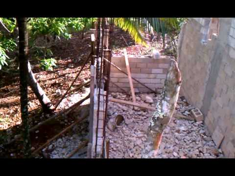 House building in jamaica part 8 youtube for Building a house in jamaica